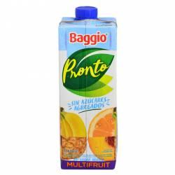 Jugo Natural s/Azúcar agregada Multifrutal Baggio Pronto x 1 Lt.