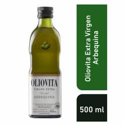Aceite de Oliva Arbequina Vidrio Oliovita x 500 cc.