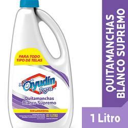 Quitamanchas Líquido Blanco Superficies Botella Ayudín x 1 Lt.