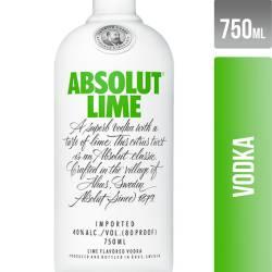 Vodka con sabor a Lima Absolut x 750 cc.