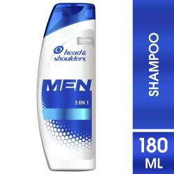 Shampoo Control Caspa Men 3 en 1 Head Shoulders x 180 cc.