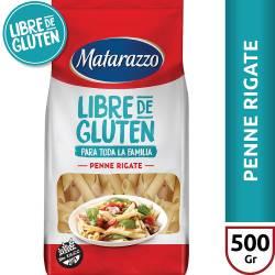 Fideos Penne Rigate Libre de Gluten Matarazzo x 500 g.