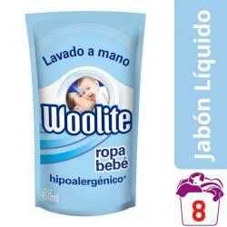 Detergente Líquido Ropa Fina Bebe Dp Woolite x 450 cc.