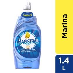 Detergente Líquido Marina Rinde X5 Magistral x 1,4 Lt.
