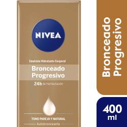 Emulsión Hidratante Autobronceante Nivea Body x 400 cc.