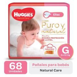 Pañal G Natural Care para Ellas Oft Huggies x 68 un.