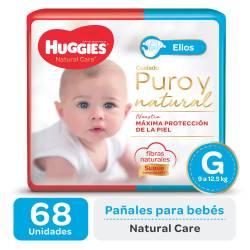 Pañal G Natural Care para Ellos Oft Huggies x 68 un.