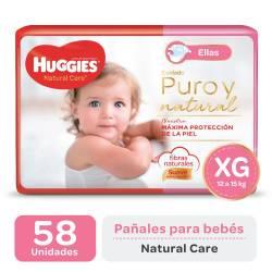 Pañal XG Natural Care Ellas Oft Huggies x 58 un.
