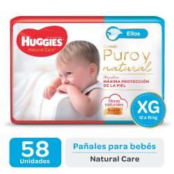 Pañal XG Natural Care Ellos Oft Huggies x 58 un.
