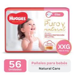 Pañal XXG Natural Care Ellas Oft Huggies x 56 un.