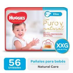 Pañal XXG Natural Care Ellos Oft Huggies x 56 un.