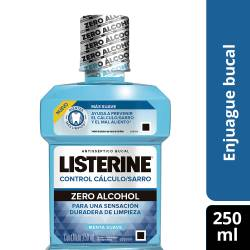 Enjuague Bucal Zero Alcohol Listerine x 250 cc.