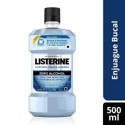 Enjuague Bucal Zero Alcohol Listerine x 500 cc.