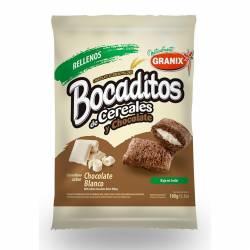 Bocaditos Rellenos de Chocolate Blanco Granix x 180 g.