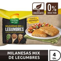 Milanesas Mix de Legumbres Granja del Sol x 330 g.
