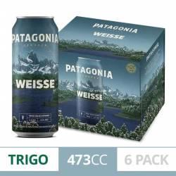 Cerveza Weisse Lata Patagonia Pack x 6 Latas de 473 cc.