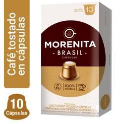 Café Tostado en Cápsulas Brasil La Morenita x 10 un.