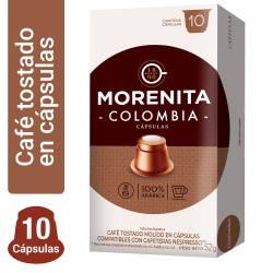 Café Tostado en Cápsulas Colombia La Morenita x 10 un.