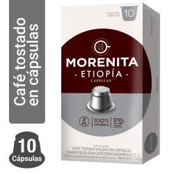 Café Tostado en Cápsulas Etiopia La Morenita x 10 un.