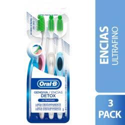 Cepillo Dental Encías Detox Ult Oral-B x 3 un.