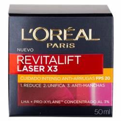 Crema Antiarrugas Revital. Laser Loreal x 3 un.