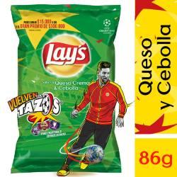 Papas Fritas sabor Queso y Cebolla Lays x 86 g.