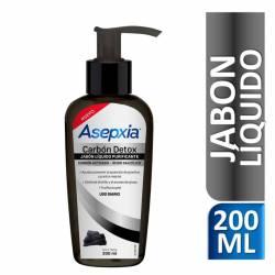 Jabón Líquido Carbón Detox Asepxia x 200 cc.