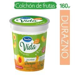 Yogur Descremado c/Colchón de Durazno Sancor Yogs x 160 g.