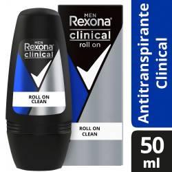 Antitranspirante Roll On Clinical Clean Rexona x 50 cc.