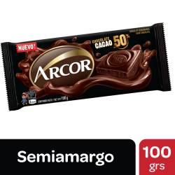 Chocolate Semi Amargo Cacao 50% Arcor x 100 g.