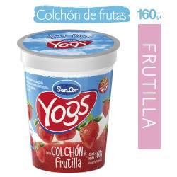 Yogur Entero c/Colchón de Frutilla Sancor Yogs x 160 g.