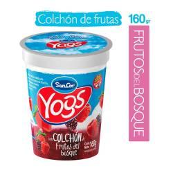Yogur Entero c/Colchón Frutos del Bosque Sancor Yogs x 160 g.
