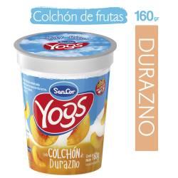 Yogur Entero c/Colchón de Durazno Sancor Yogs x 160 g.