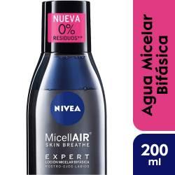 Loción Micelar Bifas. Expert Black Nivea x 200 cc.