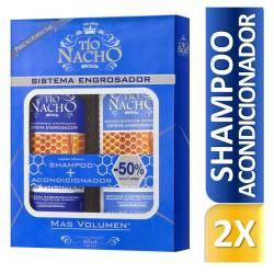 Shampoo + Acondicionador Sistema Engrosador Oft Tío Nacho x 830 cc.