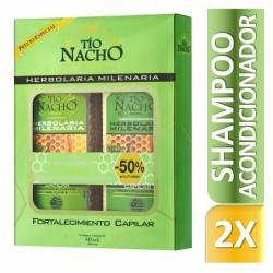 Shampoo + Aco Herbolaria Milen. Oft Tío Nacho x 830 cc.
