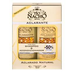 Shampoo + Acondicionador Aclarante Oft Tío Nacho x 830 cc.
