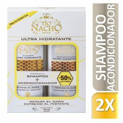 Shampoo + Acondicionador Ultra Hidratante Oft Tío Nacho x 830 cc.