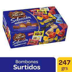 Bombones y Chocolates Selección Caja Arcor x 258 g.