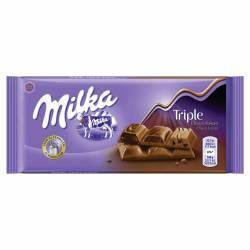 Chocolate c/Leche Triple Cocoa Milka x 100 g.