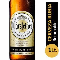 Cerveza Rubia Retornable Warsteiner x 1 Lt.