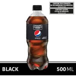 Gaseosa Cola Cero Azúcar Pet Pepsi Black x 500 cc.