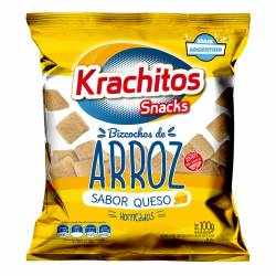 Bizcocho de Arroz sabor Queso Krachitos x 100 g.