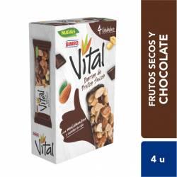 Barra de Frutos Secos con Chocox4U Vital x 136 g.