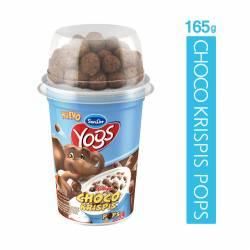 Yogur Entero c/Cereales Choco Krispis Sancor Yogs x 165 g.