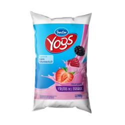 Yogur Entero Bebible Frutos del Bosque Sachet Sancor Yogs x 900 g.