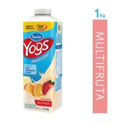 Yogur Entero Bebible Multifruta Bot Sancor Yogs x 1 Kg.