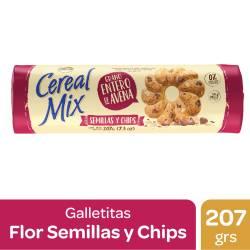 Galletitas c/Semillas y Chips Cereal Mix x 207 g.