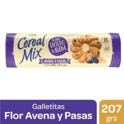 Galletitas c/Avena y Pasas Cereal Mix x 207 g.