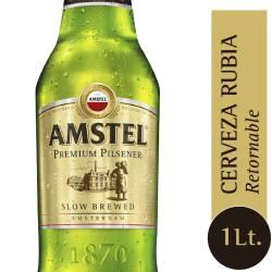 Cerveza Retornable Premium Amstel x 1 Lt.